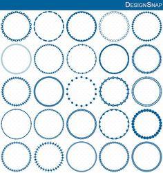 Blue Circle Frames, Circle Frame Clip Art, Round Frame Clip Art, Digital Clipart, Circle Frames, Frames Clipart, Circle Labels  - 1 Zip folder