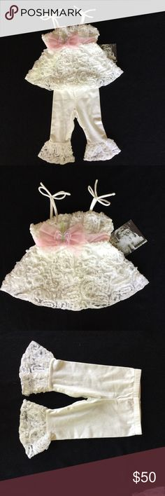 CachCach for Girls, 12 month outfit Cach Cach for Girls, 12 month outfit & hair clip. NWT CachCach Matching Sets