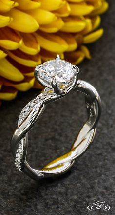 Twisting Diamond Engagement Ring #GreenLakeJewelry