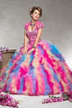 2013 Quinceanera Dresses Colorful Ball Gown Sweetheart Floor Length Rhinestone
