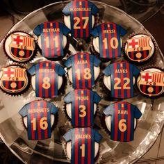 Fc barcelona cupcakes