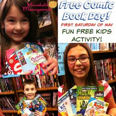 The who, what, when and where of Free Comic Book Day, a great free kids activity that happens the first Saturday of May each year {on Household Management 101}