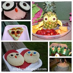 Owl food, love the fruit tray