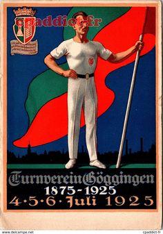 Dos divisé Circulé : non Date :  Format : 11 x 15 cm État : Très bon,  Édition :  Référence : B001N6344 Date, Baseball Cards, Antique Post Cards, Gymnastics