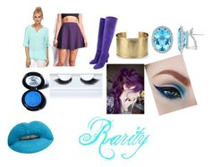 """Rarity Equestria Girls Closet Cosplay"" by thecrystalheart on Polyvore featuring Tart, Tamara Mellon, Blue Nile, Medusa's Makeup and Gorgeous Cosmetics"