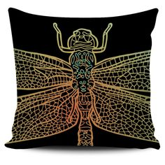 $5 FLASH SALE - Dragonfly Wings Pillow set: 2 of 3 - Colorful zentangle inspired pillow covers!
