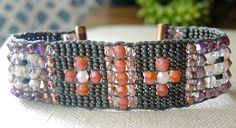 STEELY GRAY Hand-Loomed Bracelet featuring by BraceletsofBlueRidge