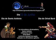 Entidades Ciganas da Umbanda (Clique Aqui) para entrar.: DIA 13 DE JUNHO, DIA DE SANTO ANTÔNIO, E ORIXÁ BAR...