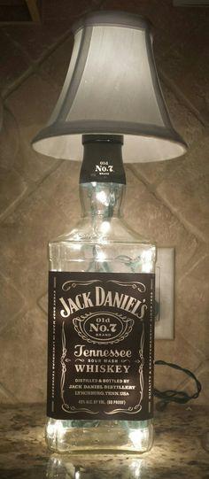 30 amazing diy bottle lamp ideas jack daniels taller y caf aloadofball Gallery