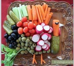 Fun holiday food plate.