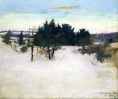 """ Abbott Handerson Thayer (American, 1849-1921), Winter Landscape, 1902. Oil on canvas. """