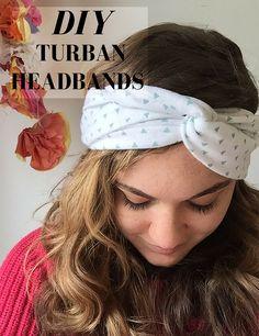 DIY turban headbands