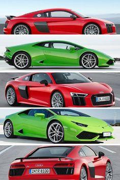 Audi R8V10 vs Lamborghini Huracan @ http://www.carhoots.com/super-cars/the-audi-r8v10-puts-lamborghinis-huracan-to-shame/