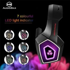 Fuleadture Gaming Headset for Xbox One, PC Gaming Headset with Mic, Noise Cancelling Over Ear Headphones with LED Light, Bass Surround, Soft Memory Earmuffs for Laptop Mac Nintendo Switch Games Ps4 Gaming Headset, Gaming Headphones, Ear Headphones, Ps4 Or Xbox One, Prom Makeup Looks, Phone Games, Nintendo Switch Games, Gaming Accessories, Headphone With Mic