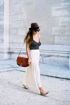 one piece and maxi skirt