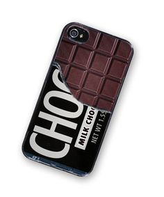 iPhone 4 Case Chocolate Bar Candy iPhone Hard Case / Fits Iphone 4, 4S. $18.00, via Etsy.