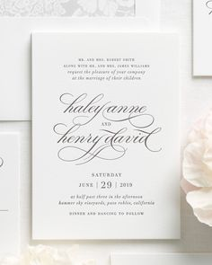 Letterpress wedding invitations are custom printed on an antique letterpress resulting in deep impressions and a dramatic embossed look. Letterpress Wedding Invitations, Printable Wedding Invitations, Wedding Invitation Wording, Elegant Wedding Invitations, Formal Wedding Invitations, Invitation Ideas, Wedding Stationary, Wedding Consultant, Free Wedding