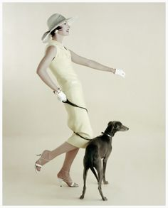 Photo Richard Rutledge, Walking the Dog, Vogue, 1955