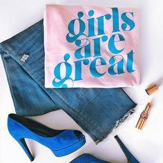 Feminist Shirt Girls are Great Shirt Girl Power Shirt Feminist Shirt, Statement Tees, Patriarchy, White Tees, Cool Tees, Shirts For Girls, Girl Power, Graphic Tees