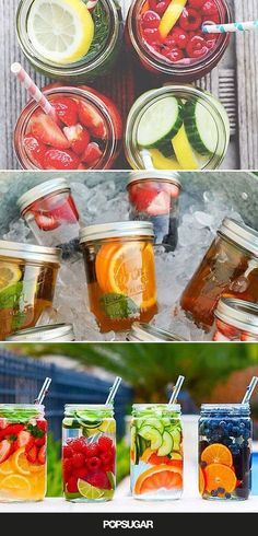 Fruit water is a great way to ensure you're getting the daily recommended amount of H2O. Here are some creative combos to try.