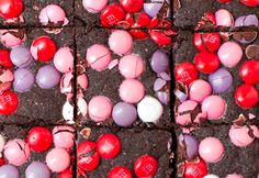Not-So-Bad-For-You Brownies :) plus my fav M&M color combo?