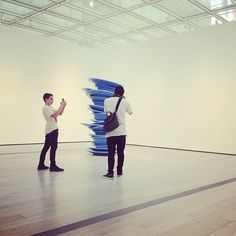 picture of: @mywafflemix takin a pic of @theeseanmartin takin a pic of #blue #plates // #insteegram #lacma #latergram #art #photography #team #designer #yeir - @insteegram- #webstagram