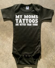 Rockin Boy Onesie or Shirt My Moms Tattoos are by RockkandyKids, $13.00