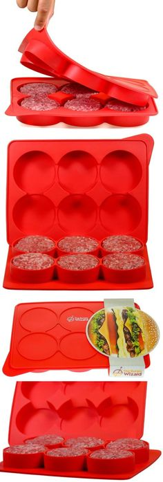 Burger Presses 178051: Silicone Burger Press Hamburger Patty Maker And  Freezer Container New  U003e