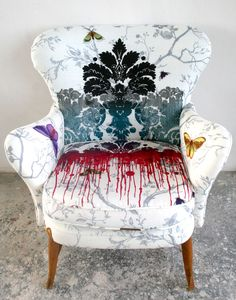 Timorous Beasties' wonderfully dark upholstery fabric, featured on modhomeec.com blog piece