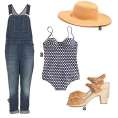 How to Wear Overalls: FESTIVAL READY    1. Topshop overalls, $110  2. J. Crew, $110  3. Biltmore for Madewell, $48  4. Swedish Hasbeens, $219
