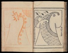 Kosode Pattern Book (On-Hiinagata) vol. Edo period One of a set of two woodblock-printed books; ink and color on paper. (as seen at the Metropolitan Museum of Art on Oct. Japanese Paper, Japanese Fabric, Pattern Books, Pattern Paper, Edo Period, Japanese Textiles, 2d Art, Textile Patterns, Metropolitan Museum