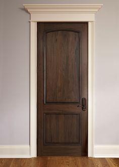 Interior Door Custom - Single - Solid Wood with American Walnut Finish, Classic, Model DBI-M-701P