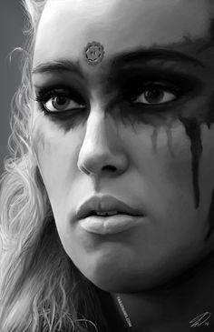 "tara-draws: ""Digital Painting of Lexa "" Lexa The 100, The 100 Clexa, Hunger Games, Lexa E Clarke, The 100 Characters, 100 Memes, Marie Avgeropoulos, The 100 Show, Alycia Jasmin Debnam Carey"