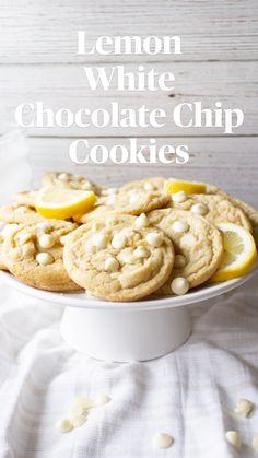 Lemon Desserts, Lemon Recipes, Sweet Recipes, Delicious Desserts, Easy Cookie Recipes, Baking Recipes, Lemon Cookie Recipe, Lemon Cookies Easy, Lemon Crinkle Cookies