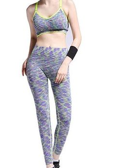 Wholesale Aztec Printed Black Yoga Clothing Set For Women
