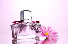 stock photo : women's perfume in beautiful bottle and flower on pink background . - Click the pic! Gardenias, Perfume Bottles, This Or That Questions, Vanilje, Pink, Beautiful, Flower, Gaming, Cards