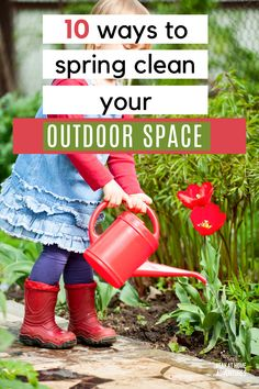Spring cleaning is not just about indoors but outdoors as well. Learn ten tricks to spring clean your outdoor space that are effective. via @mystayathome Front Yard Landscaping Pictures, Landscape Plans, Spring Is Here, House Front, Spring Cleaning, Cleaning Hacks, Outdoor Spaces, Life Hacks, Outdoors