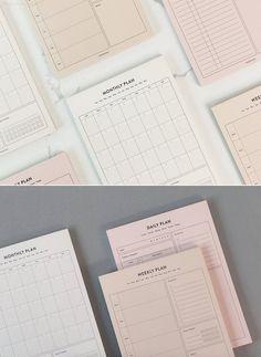 Planners, Planner Organization, Study Organization, Weekly Planner, Work Planner, Notes Design, Journal Stickers, Writing Paper, Scrapbook Albums