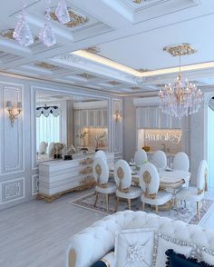 Low Budget Home Decoration Ideas Dining Room Table Decor, Dining Room Design, Luxury Dining Room, Luxury Living, Room Interior, Interior Design Living Room, Plafond Design, Luxury Interior Design, Luxurious Bedrooms