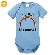 I Poop Rainbows Baby Strampler by Shirtcity - Shirts mit spruch (*Partner-Link)