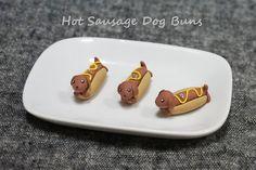 Bollo de caliente perro salchicha Dachshund por DirtBloks en Etsy