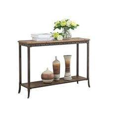 Trenton 39-inch Distressed Pine and Metal Console Table - Overstock™ Shopping - Great Deals on Coffee, Sofa & End Tables
