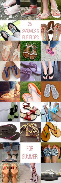 25 chic DIY summer sandals   flip flops | http://helloglow.co/25-diy-summer-sandals/