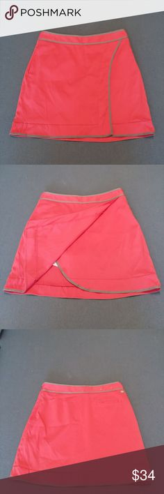"""Golf tennis skort skirt shorts Greg Norman pink and taupe skort  Side zipper, back pocket, front pocket Tag size 2 Waist measures 14"""" Length waist to hem 16.5"""" Perfect for summer fun See 6. Noticed the camera flash caught a small discoloration on the front of skirt. Not very noticeable Greg Norman Shorts Skorts"""