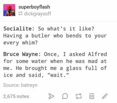 I can imagine Lego Alfred doing that!!!