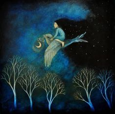 Moon Art by Lucy Campbell….Checkout this beautiful fantasy art by this amazing artist. Art And Illustration, Fuchs Illustration, Fantasy Kunst, Fantasy Art, Art Original, Original Paintings, Art Magique, Art Fantaisiste, Moon Art
