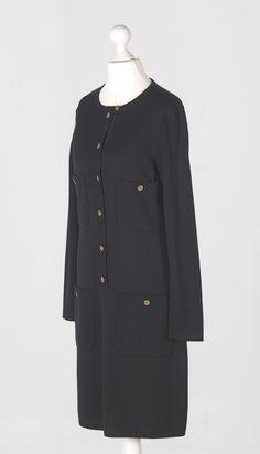 Chanel Auktion 122: Chanel Strickkleid, vermutlich Wolle, deutsche Größe 36, Lange 94 cm