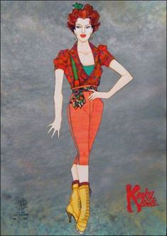 When the costumes are referenced in the title of your multi-million dollar Broadway musical, you better hire the best to design them. Such was the case with Kinky Boots, the new high-spirited musical by Cyndi Lauper and Harvey Fierstein. Kinky Boots Musical, Greg Barnes, Marching Band Shows, Harvey Fierstein, Costume Design Sketch, Tony Award Winners, Ella Enchanted, Signature Look, Greggs