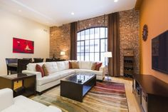 Brick wall with curtain  Bay Area loft conversions: new life for old buildings | On The Block | an SFGate.com blog