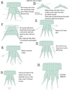 Origami Jellyfish Step-by-Step Diagrams! | Lin海聞Art